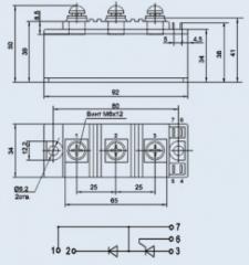 Модуль диодно-тиристорный МДТ4-100-16