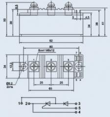 Модуль диодно-тиристорный МТД-100-12
