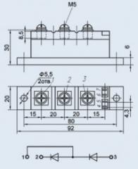 Модуль диодный МДД-100-16