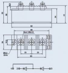 Модуль диодный МДД-160-12