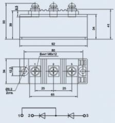 Модуль диодный МДД-160-14