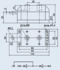 Модуль диодный МДД-200-10