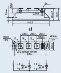 Модуль оптотиристорный МТО2-25-12