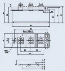 Модуль тиристорный МТТ-100-12