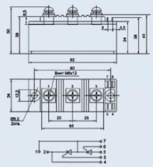 Модуль тиристорный МТТ-100-16