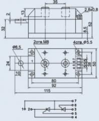 Модуль тиристорный МТТ-200-16