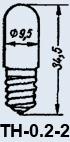 Lampa neonowa T-0,2-2 E10/13