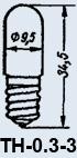 Неоновая лампа ТН-0.3-3 E10/13