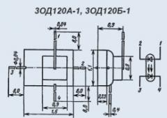 Оптопара 3ОД120А-1