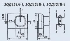 Оптопара 3ОД121А-1
