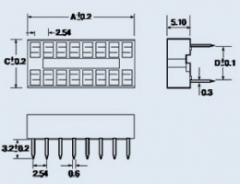 Панель для микросхем DIP-16S