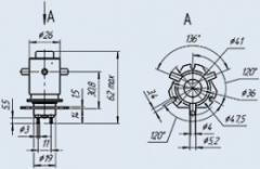 Переключатель вакуумный П2Д-2В 12А 5кВ
