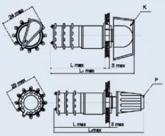 Переключатель галетный ПГ2-24-2П16НВК