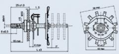 Rotační spínač PHH-11P1N