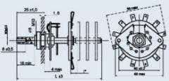 Переключатель галетный ПГК-2П4Н-КШ