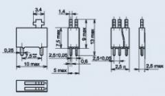 Переключатель движковый ВДМ3-1-1В