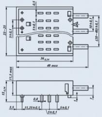 Switch push-button PKN8-1V-9V