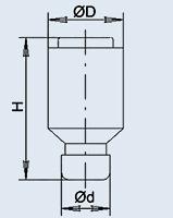 La inserción ПВД-I fusible 6.3А 380В
