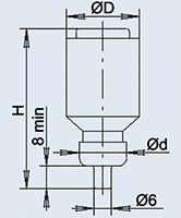 La inserción ПВД-II fusible 20А 380В