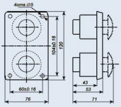 Пост управления кнопочный ПКЕ-112-2У3