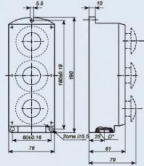 Пост управления кнопочный ПКЕ-222-3У2
