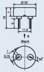 Pyezokeramichesky radiator of ZP-18
