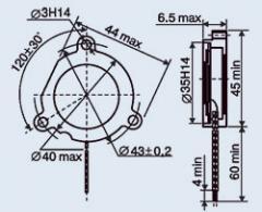 Пьезокерамический излучатель ЗП-5