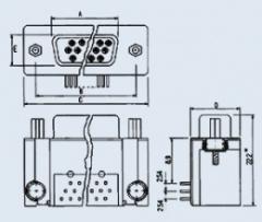 Разъем 15pin п на плату DHR-15M