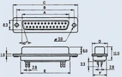 Разъем 9pin п на кабель DB-9M