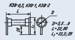 Резистор постоянный КЭВ-1 1М