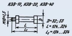 Резистор постоянный КЭВ-40 39М