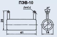 Резистор постоянный ПЭВ-10 1.8