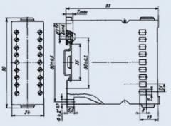Реле промежуточное ПЭ-37-44 110В 50Гц