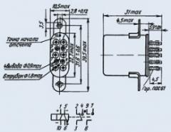Реле электромагнитное слаботочное РПС-32Б...