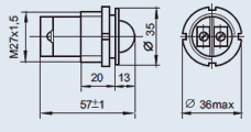 Светоизлучающий диод СКЛ-11 220В зелёный