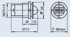 Светоизлучающий диод СКЛ-11 220В красный