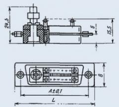 Соединитель комбинированный РП15-10ГВ222ФВ