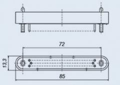 Соединитель низкочастотный прямоугольный 12РБ-60В вилка