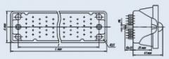 Соединитель низкочастотный прямоугольный 6Р-100В вилка блочная
