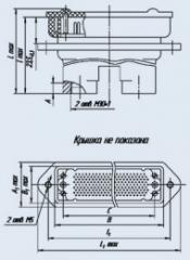 Соединитель низкочастотный прямоугольный 6Р-100В вилка кабельная