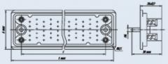 Соединитель низкочастотный прямоугольный 6Р-100В розетка блочная