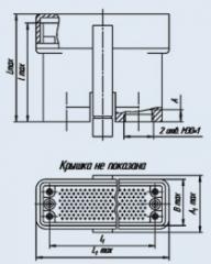 Соединитель низкочастотный прямоугольный 6Р-100В розетка кабельная