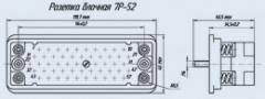 Соединитель низкочастотный прямоугольный 7Р-52 розетка блочная