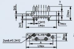 Соединитель низкочастотный прямоугольный РП10-15