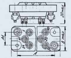 Соединитель низкочастотный прямоугольный РП10-22