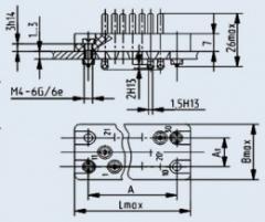Соединитель низкочастотный прямоугольный РП10-30