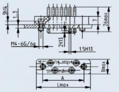 Соединитель низкочастотный прямоугольный РП10-7