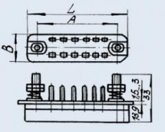 Соединитель низкочастотный прямоугольный РП14-5 Л