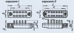 Соединитель низкочастотный прямоугольный РП14-5