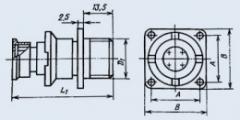 Соединитель низкочастотный цилиндрический 2РМ14БПЭ4Г1А1